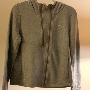Puma jersey hooded jacket
